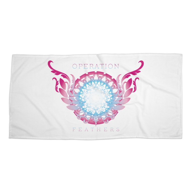 O.F. Mandala of Power - Blue Pinkburst Accessories Beach Towel by The Evocative Workshop's SFX Art Studio Shop