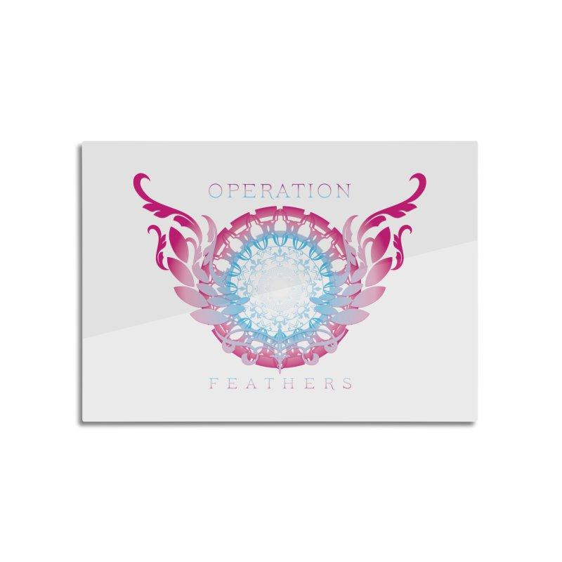 O.F. Mandala of Power - Blue Pinkburst Home Mounted Aluminum Print by The Evocative Workshop's SFX Art Studio Shop