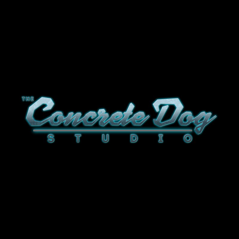 The Concrete Dog Studio Logo - Text Only Home Bath Mat by The Evocative Workshop's SFX Art Studio Shop