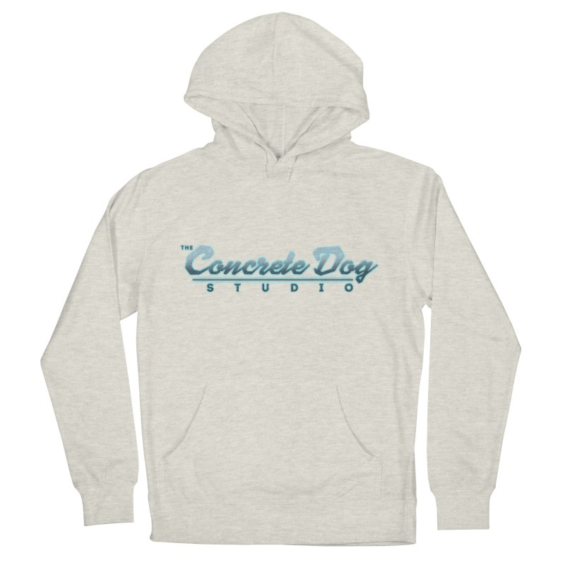 The Concrete Dog Studio Logo - Text Only Women's French Terry Pullover Hoody by The Evocative Workshop's SFX Art Studio Shop
