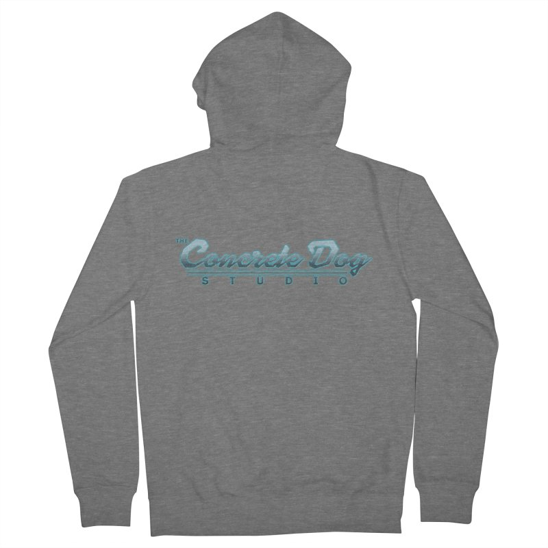 The Concrete Dog Studio Logo - Text Only Men's French Terry Zip-Up Hoody by The Evocative Workshop's SFX Art Studio Shop