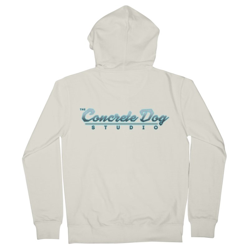 The Concrete Dog Studio Logo - Text Only Men's Zip-Up Hoody by The Evocative Workshop's SFX Art Studio Shop