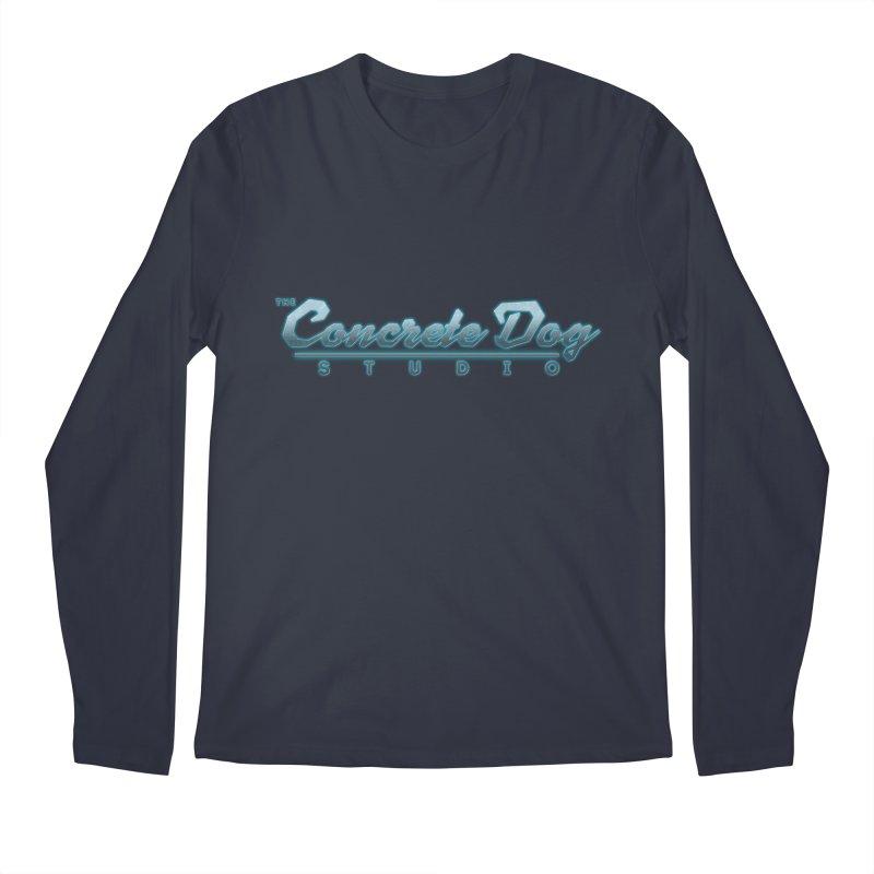 The Concrete Dog Studio Logo - Text Only Men's Regular Longsleeve T-Shirt by The Evocative Workshop's SFX Art Studio Shop