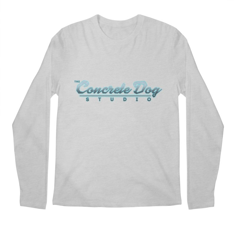 The Concrete Dog Studio Logo - Text Only Men's Regular Longsleeve T-Shirt by The Evocative Workshop's SFX Art Studio Shop