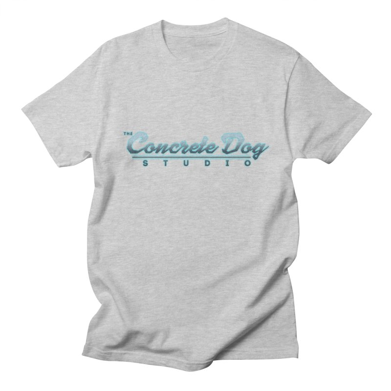 The Concrete Dog Studio Logo - Text Only Men's Regular T-Shirt by The Evocative Workshop's SFX Art Studio Shop