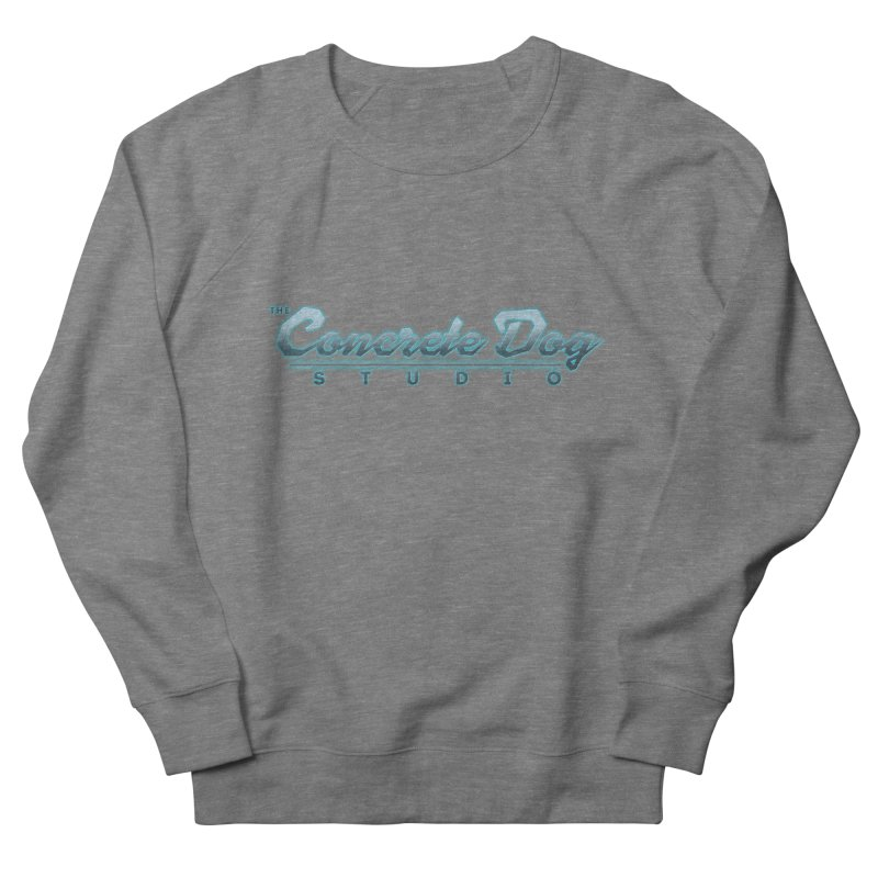 The Concrete Dog Studio Logo - Text Only Women's French Terry Sweatshirt by The Evocative Workshop's SFX Art Studio Shop