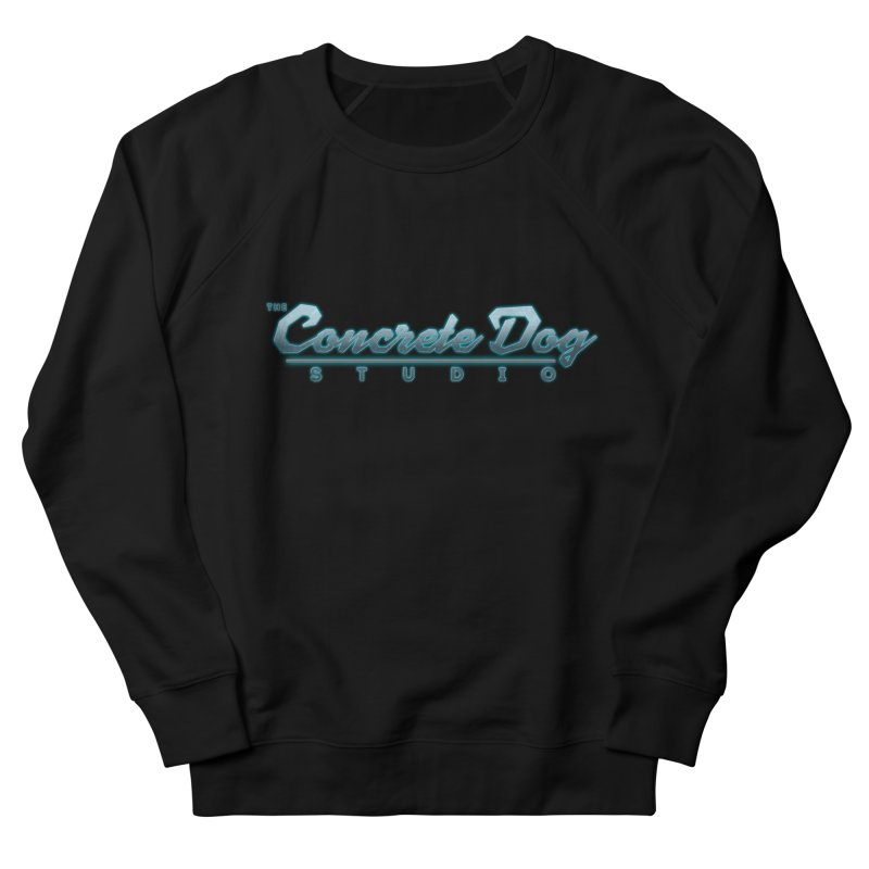 The Concrete Dog Studio Logo - Text Only Men's French Terry Sweatshirt by The Evocative Workshop's SFX Art Studio Shop