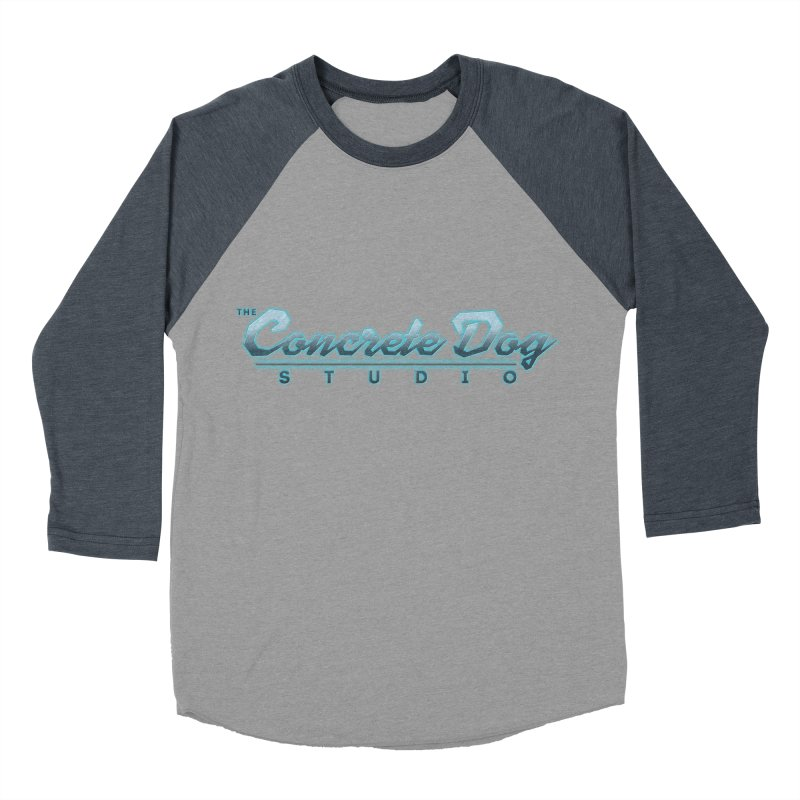 The Concrete Dog Studio Logo - Text Only Women's Baseball Triblend Longsleeve T-Shirt by The Evocative Workshop's SFX Art Studio Shop