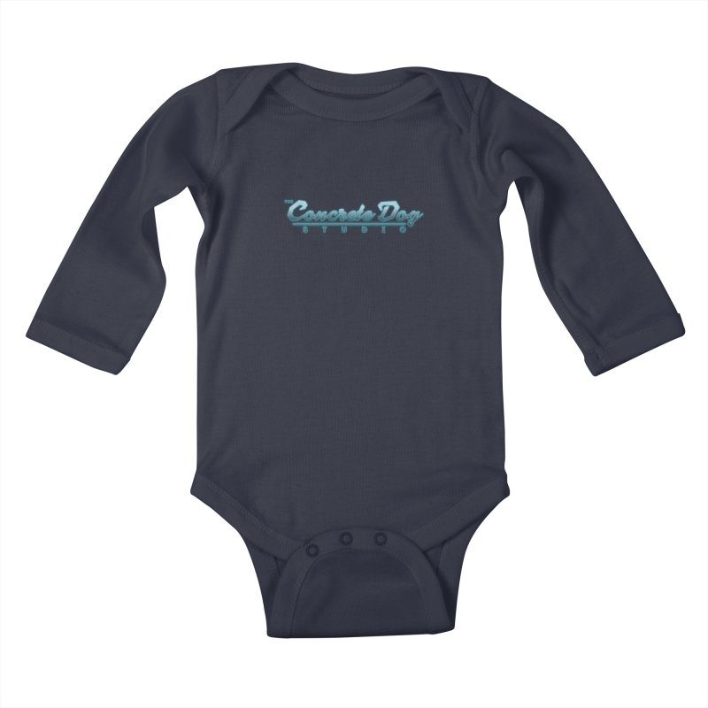 The Concrete Dog Studio Logo - Text Only Kids Baby Longsleeve Bodysuit by The Evocative Workshop's SFX Art Studio Shop