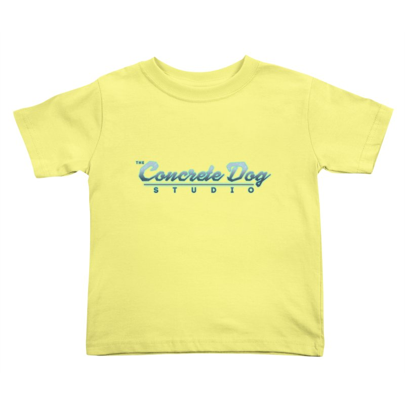 The Concrete Dog Studio Logo - Text Only Kids Toddler T-Shirt by The Evocative Workshop's SFX Art Studio Shop