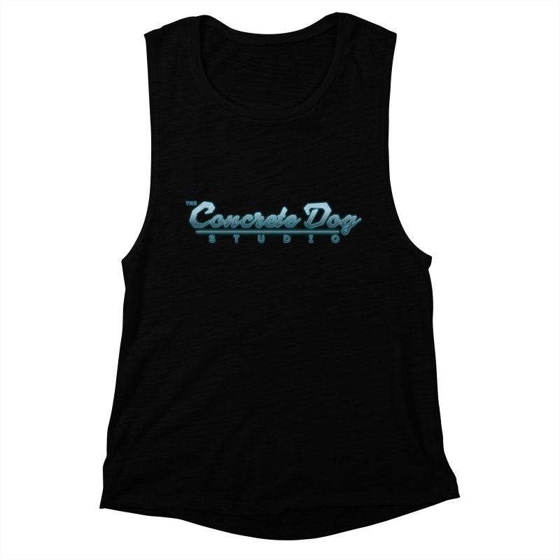 The Concrete Dog Studio Logo - Text Only Women's Muscle Tank by The Evocative Workshop's SFX Art Studio Shop