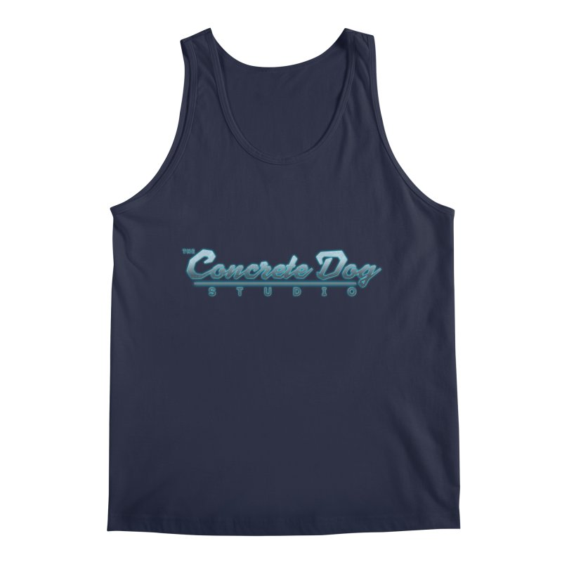 The Concrete Dog Studio Logo - Text Only Men's Regular Tank by The Evocative Workshop's SFX Art Studio Shop