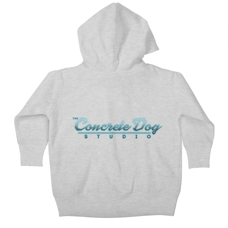The Concrete Dog Studio Logo - Text Only Kids Baby Zip-Up Hoody by The Evocative Workshop's SFX Art Studio Shop