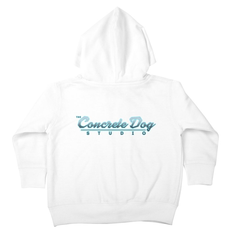 The Concrete Dog Studio Logo - Text Only Kids Toddler Zip-Up Hoody by The Evocative Workshop's SFX Art Studio Shop