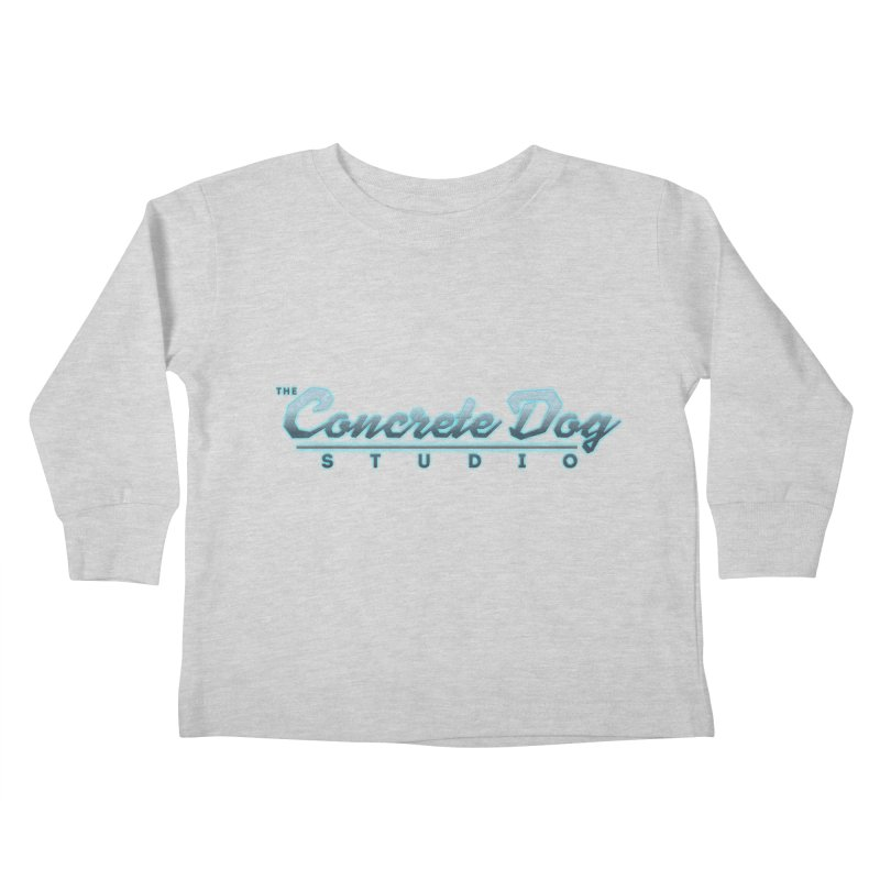 The Concrete Dog Studio Logo - Text Only Kids Toddler Longsleeve T-Shirt by The Evocative Workshop's SFX Art Studio Shop