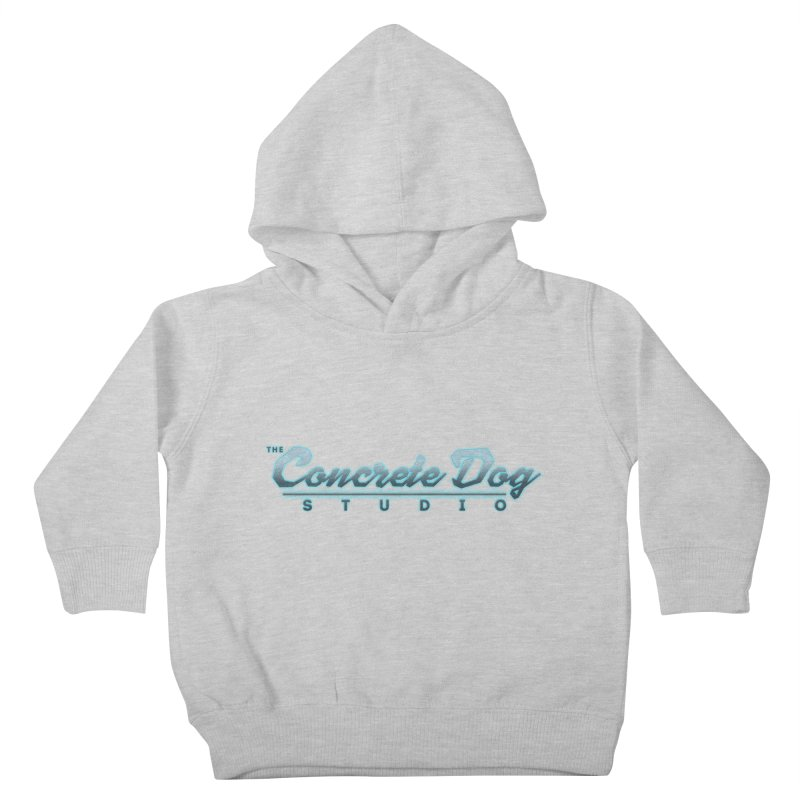 The Concrete Dog Studio Logo - Text Only Kids Toddler Pullover Hoody by The Evocative Workshop's SFX Art Studio Shop