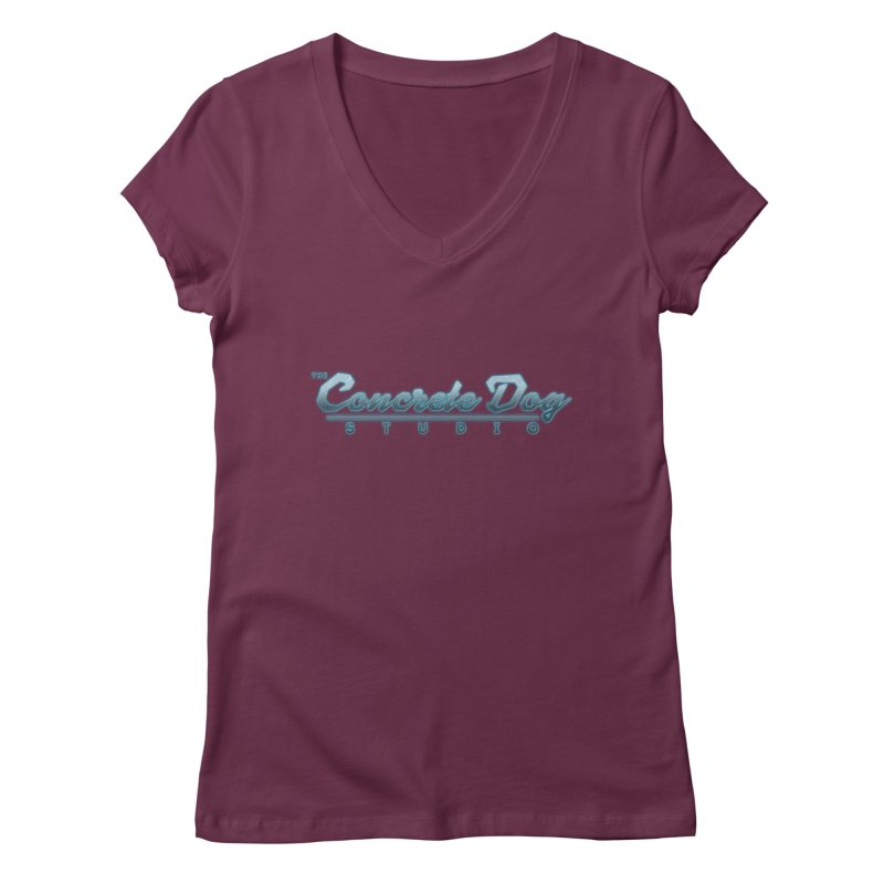 The Concrete Dog Studio Logo - Text Only Women's Regular V-Neck by The Evocative Workshop's SFX Art Studio Shop