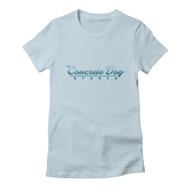 The Concrete Dog Studio Logo - Text Only Women's Fitted T-Shirt by The Evocative Workshop's SFX Art Studio Shop