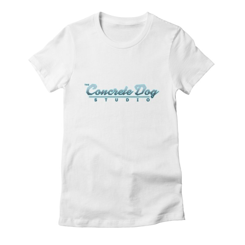 The Concrete Dog Studio Logo - Text Only Women's T-Shirt by The Evocative Workshop's SFX Art Studio Shop