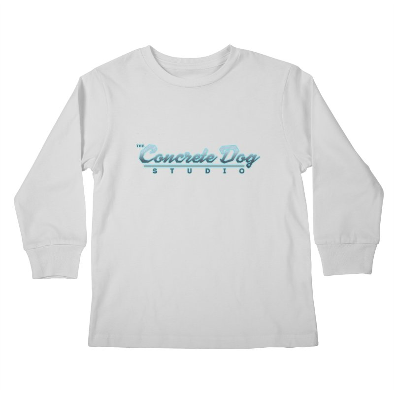 The Concrete Dog Studio Logo - Text Only Kids Longsleeve T-Shirt by The Evocative Workshop's SFX Art Studio Shop