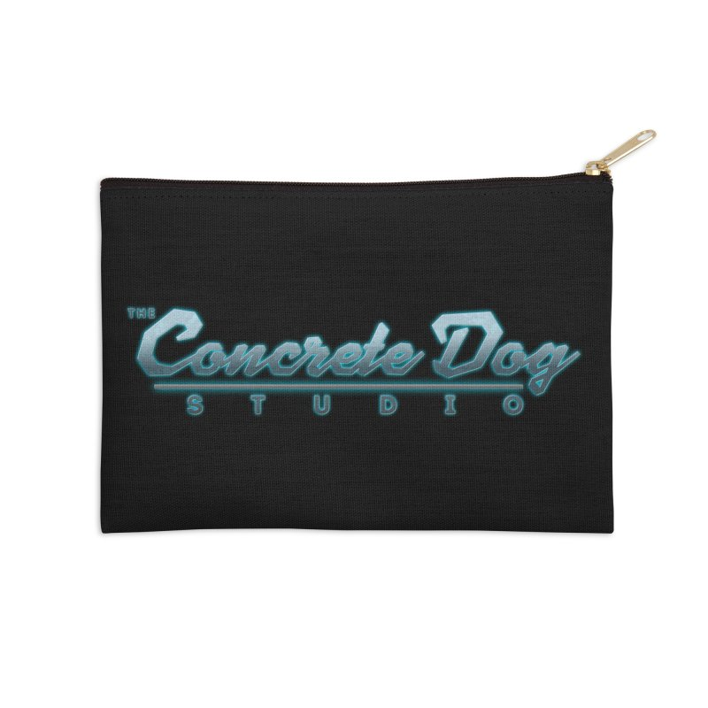 The Concrete Dog Studio Logo - Text Only Accessories Zip Pouch by The Evocative Workshop's SFX Art Studio Shop