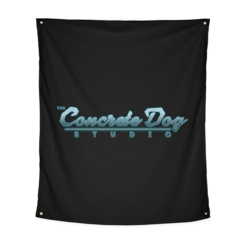 The Concrete Dog Studio Logo - Text Only Home Tapestry by The Evocative Workshop's SFX Art Studio Shop