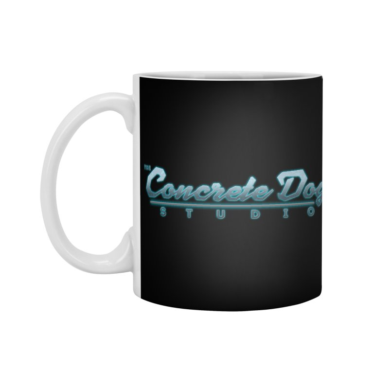 The Concrete Dog Studio Logo - Text Only Accessories Standard Mug by The Evocative Workshop's SFX Art Studio Shop