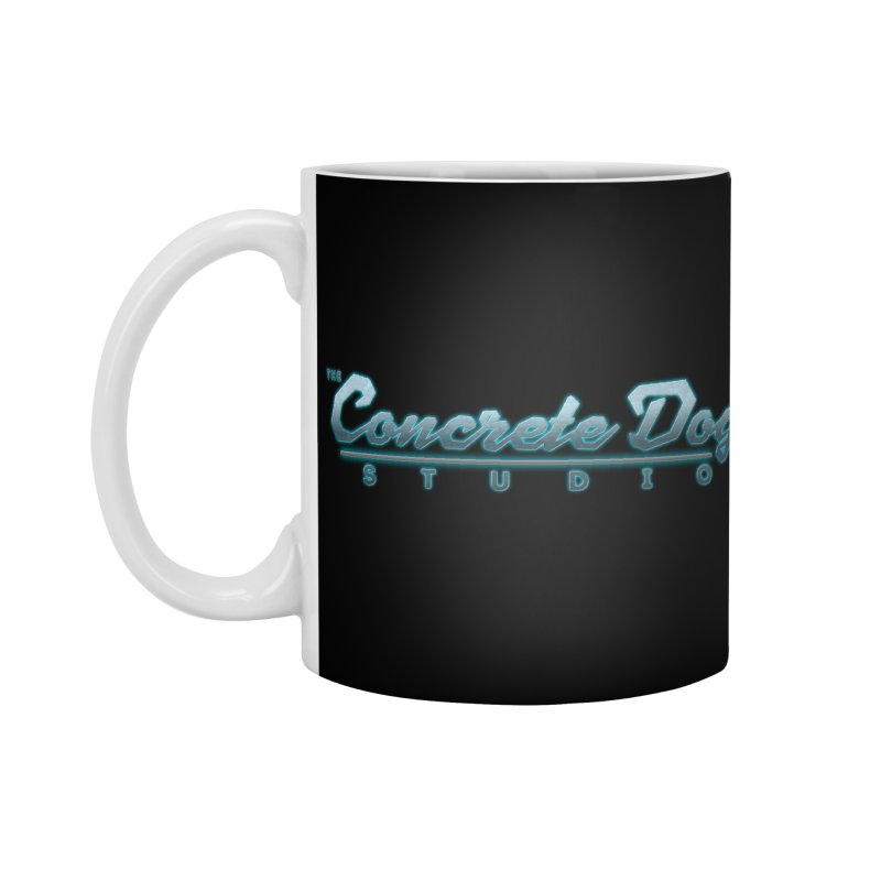 The Concrete Dog Studio Logo - Text Only Accessories Mug by The Evocative Workshop's SFX Art Studio Shop