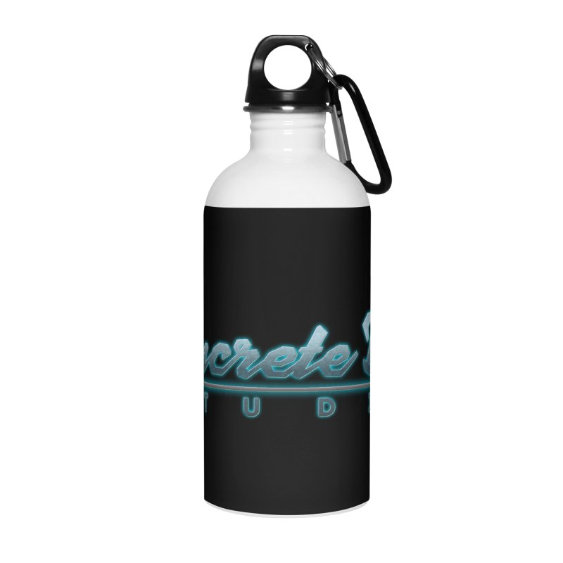 The Concrete Dog Studio Logo - Text Only Accessories Water Bottle by The Evocative Workshop's SFX Art Studio Shop