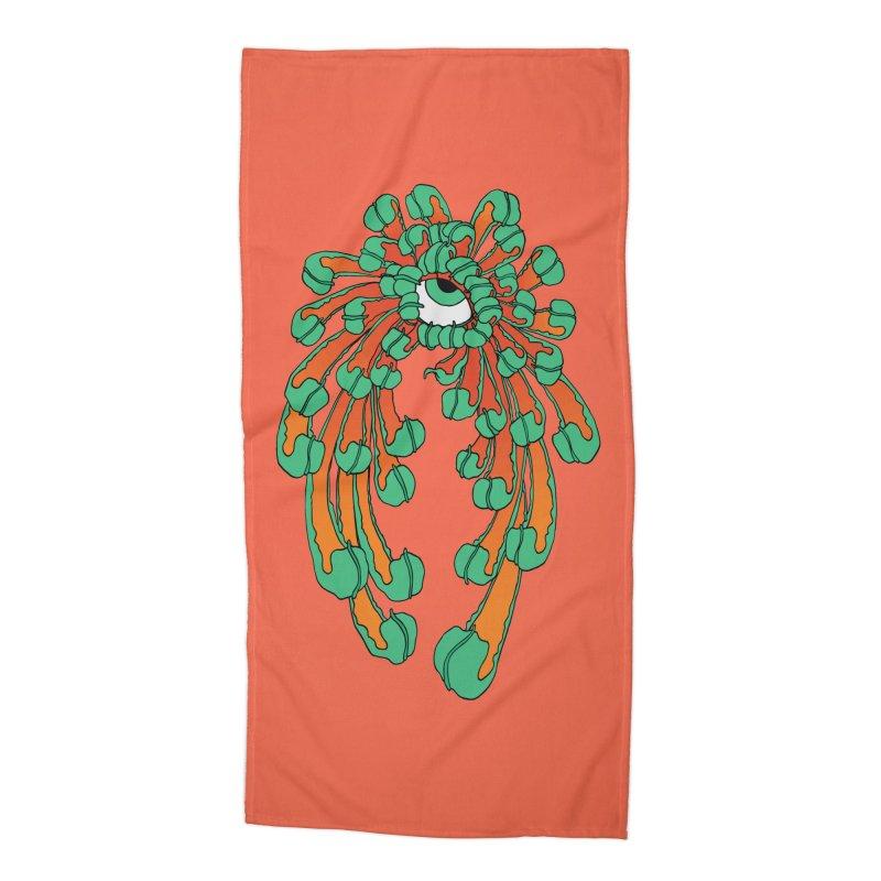 Chrysanthemum Eye Accessories Beach Towel by Evy Illustration