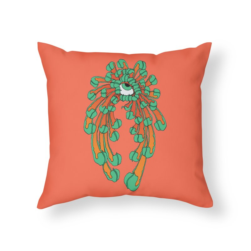 Chrysanthemum Eye Home Throw Pillow by Evy Illustration