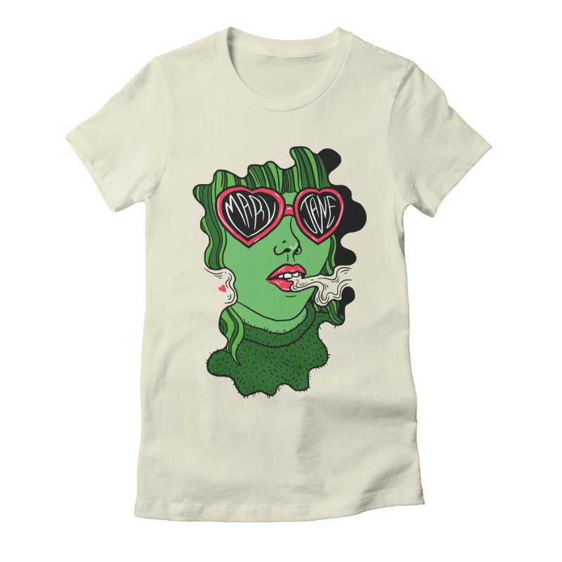 Mary Jane Women's Fitted T-Shirt by Evy Illustration
