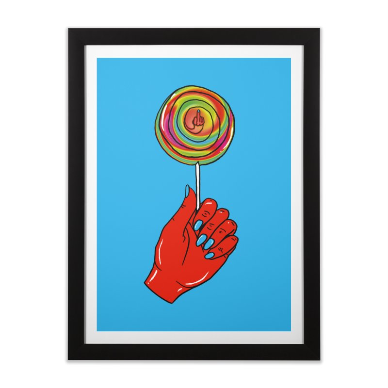 Suck It Home Framed Fine Art Print by Evy Illustration