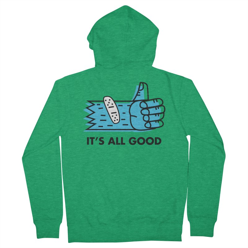 All Good Men's Zip-Up Hoody by Example Artist Shop
