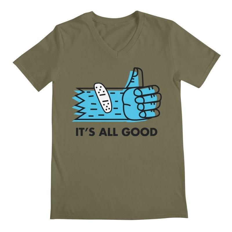 All Good Men's V-Neck by Example Artist Shop
