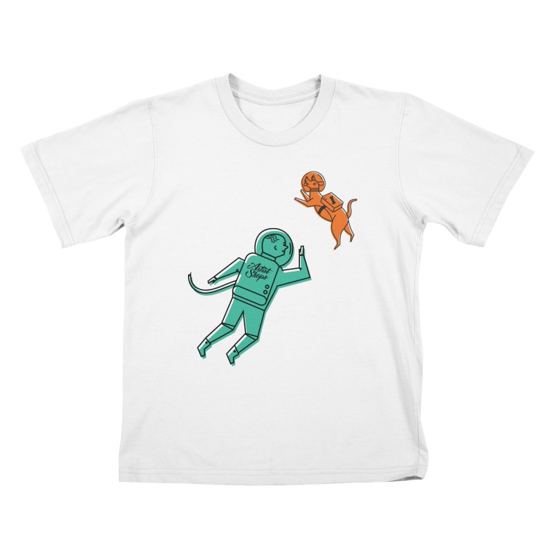Space Pals Kids T-Shirt by Example Artist Shop