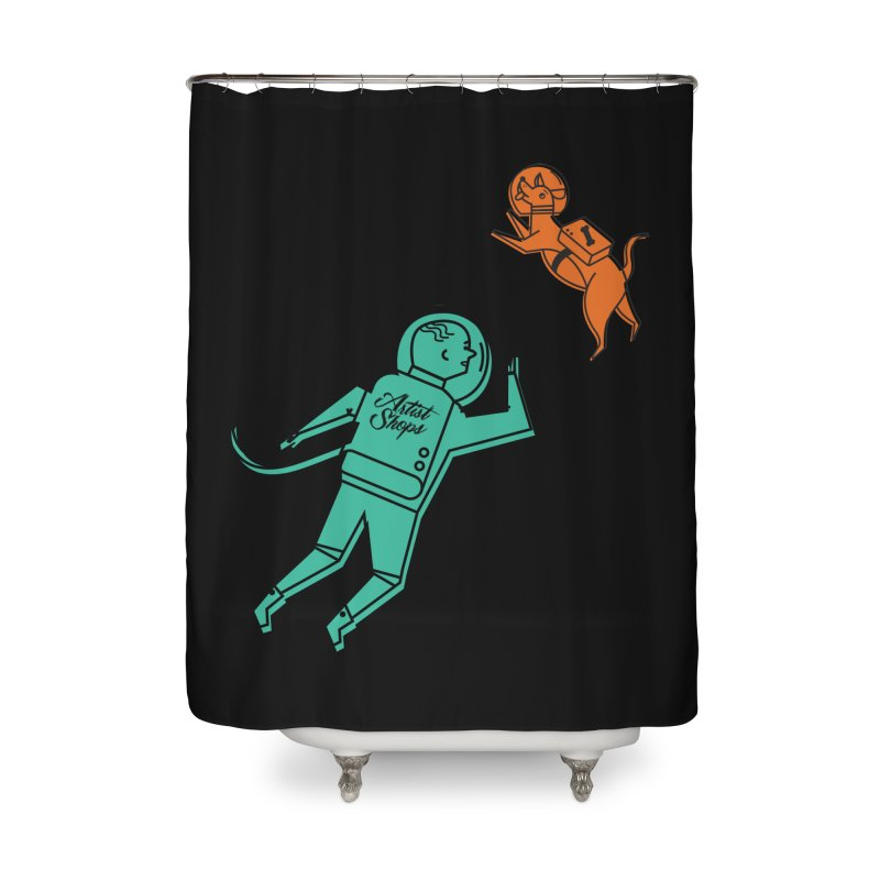 Space Pals Home Shower Curtain by Example Artist Shop