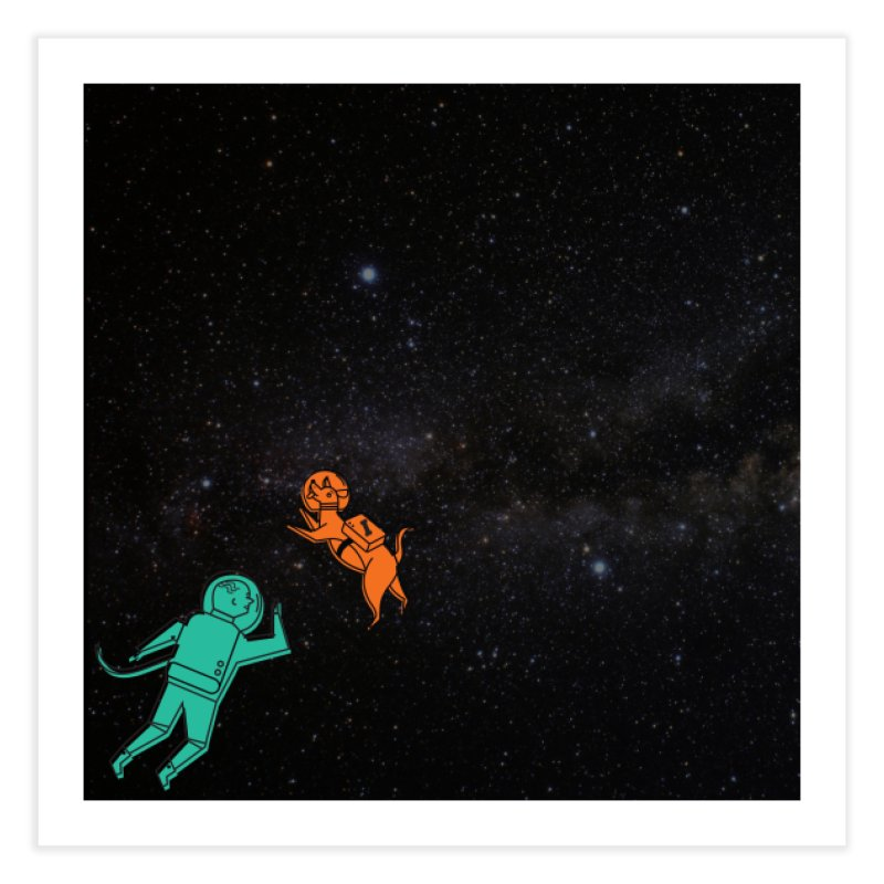 Space Pals Home Fine Art Print by Example Artist Shop