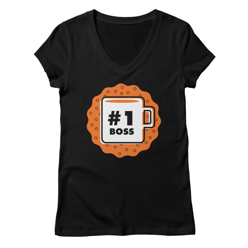 Number 1 Feminine V-Neck by Example Artist Shop