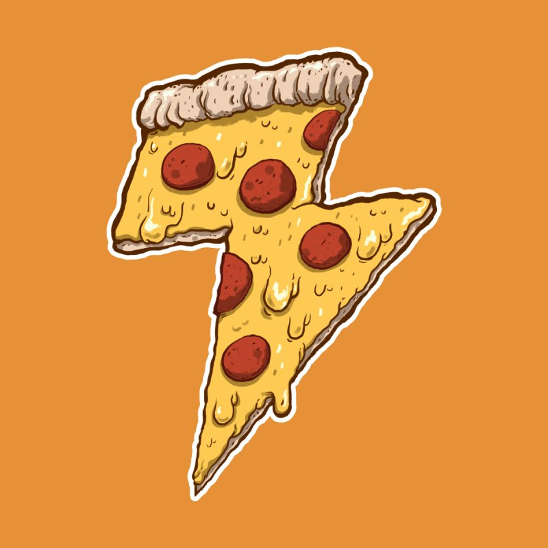 Thunder Cheesy Pizza by exeivier's Artist Shop