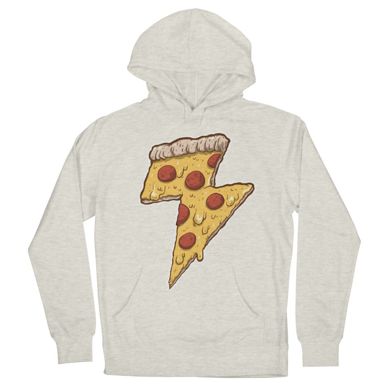 Thunder Cheesy Pizza Women's Pullover Hoody by exeivier's Artist Shop