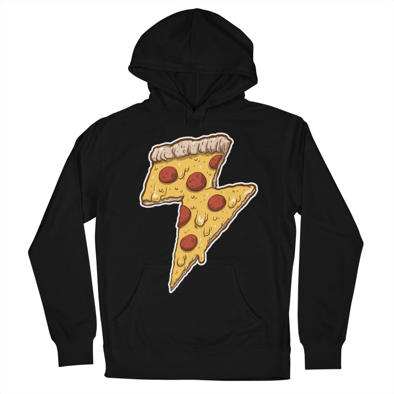 Thunder Cheesy Pizza Women's French Terry Pullover Hoody by exeivier's Artist Shop