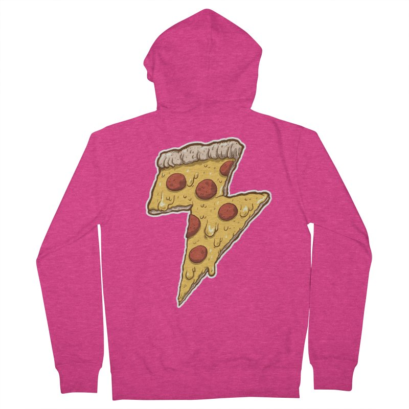 Thunder Cheesy Pizza Women's Zip-Up Hoody by exeivier's Artist Shop