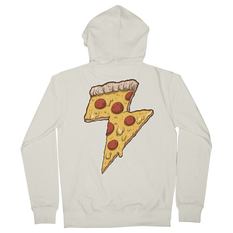 Thunder Cheesy Pizza Women's French Terry Zip-Up Hoody by exeivier's Artist Shop