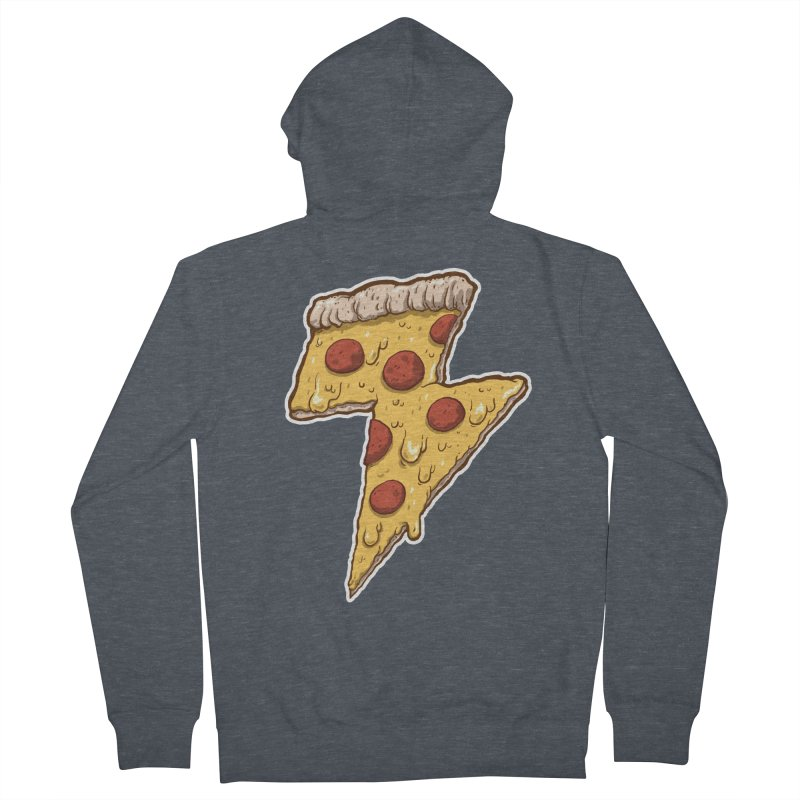 Thunder Cheesy Pizza Men's Zip-Up Hoody by exeivier's Artist Shop