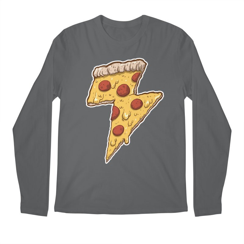 Thunder Cheesy Pizza Men's Regular Longsleeve T-Shirt by exeivier's Artist Shop