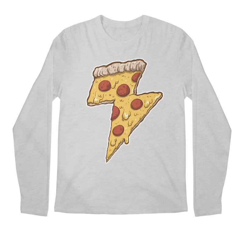 Thunder Cheesy Pizza Men's Regular Longsleeve T-Shirt by exeivier's Artist Shop