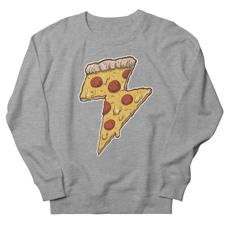 Thunder Cheesy Pizza Men's Sweatshirt by exeivier's Artist Shop