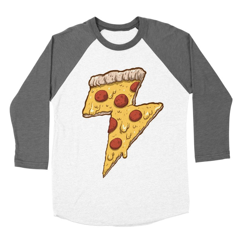 Thunder Cheesy Pizza Women's Baseball Triblend T-Shirt by exeivier's Artist Shop