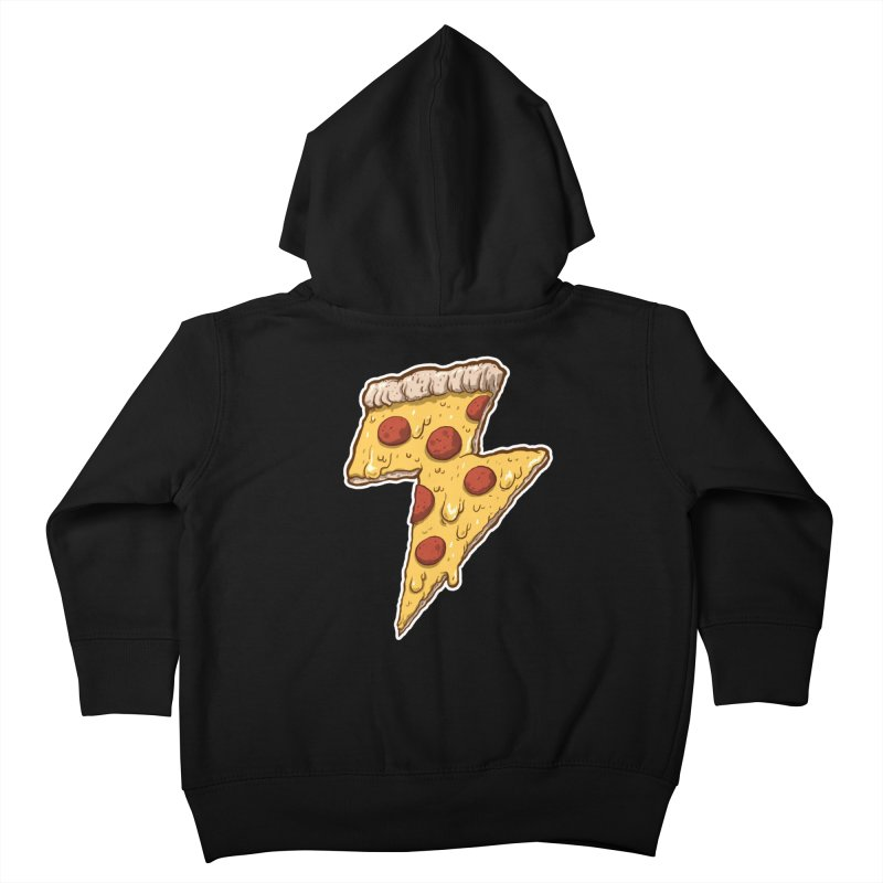 Thunder Cheesy Pizza Kids Toddler Zip-Up Hoody by exeivier's Artist Shop